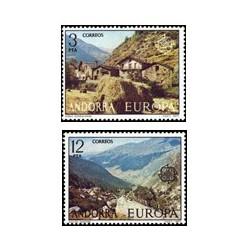 1977 Sellos de Andorra (correo español). Europa (Edif. 108/9)**