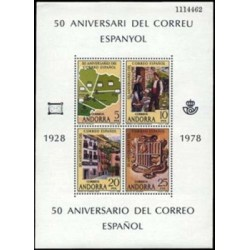 1978 Sellos de Andorra (correo español). 50º Aniv. del Correo Español (Edif