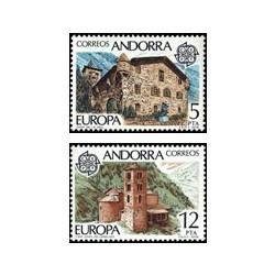 1978 Sellos de Andorra (correo español). Europa (Edif. 117/8)**