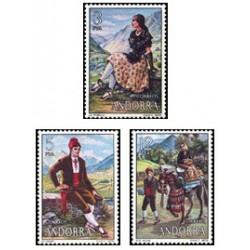 1979 Sellos de Andorra (correo español). Trajes Populares (Edif. 122/4)**