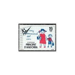 1979 Sellos de Andorra (correo español). Año Internacional del Niño (Edif.