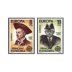 1980 Sellos de Andorra (correo español). Europa (Edif. 133/4)**