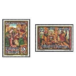 1980 Sellos de Andorra (correo español). Navidad (Edif. 138/9)**