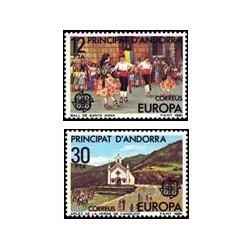 1981 Sellos de Andorra (correo español). Europa (Edif. 140/1)**
