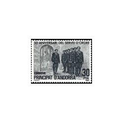 1981 Sellos de Andorra (correo español). 50º Aniv. del Servei D'Ordre (Edif