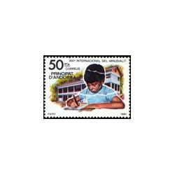 1981 Sellos de Andorra (correo español). Año Internacional del Minusválido