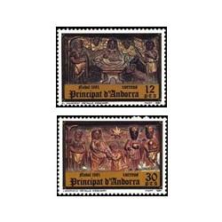 1981 Sellos Andorra Española. Navidad (Edif. 144-5)**
