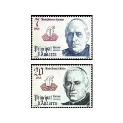 1981 Sellos de Andorra (correo español). Copríncipes (Edif. 146-7)**