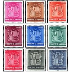 1982 Sellos Andorra Española. Serie Básica - Escudo (Edif. 148-56)**