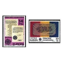 1982 Sellos Andorra Española. Europa (Edif. 157/8)**