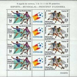 1982 Sellos Andorra Española. Mundial de Fútbol España '82 (Edif. 161 HB)**
