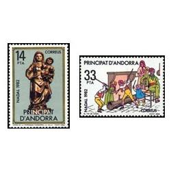 1982 Sellos Andorra Española. Navidad (Edif. 166/7)**