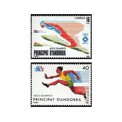 1984 Sellos Andorra Española. Juegos Olímpicos (Edif. 176-77)**