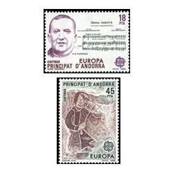 1985 Sellos Andorra Española. Europa (Edif. 184/85)**