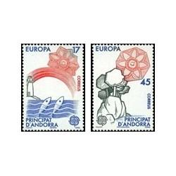 1986 Sellos Andorra Española. Europa (Edif. 191/92)**
