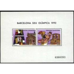 1987 Sellos Andorra Española. Barcelona Sede Olímpica 1992 (Edif. 200)**
