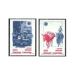 1988 Sellos Andorra Española. Europa (Edif. 204/5)**