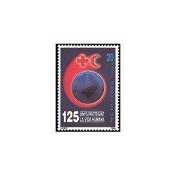 1989 Sellos Andorra Española. 125 Aniv. de la Cruz Roja (Edif. 216)**