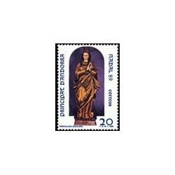 1989 Sellos Andorra Española. Navidad (Edif. 217)**
