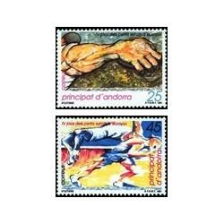 1991 Sellos Andorra Española. IV Juegos de los Pequeños Estados de Europa (