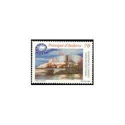 2000 Andorra Española. 50 Aniv. de Convención Europea de DD.HH. (Edif. 281)