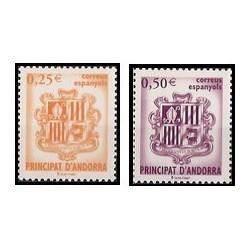 2002 Andorra Española. Escudo de Andorra. (Edif. 290/91)**