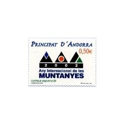 2002 Andorra Española. Año Internacional de las Montañas. (Edif. 294)**