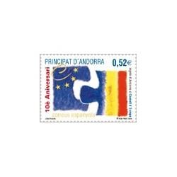 2004 Andorra Española. X Aniv. Entrada en Consejo de Europa. (Edif. 322)**