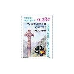 2005 Andorra Española. 25 Aniv. de Cáritas Andorra. (Edif.331)**
