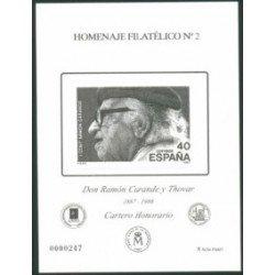 2006 Hoja Homenaje a D. Ramón Carande (nº 2)