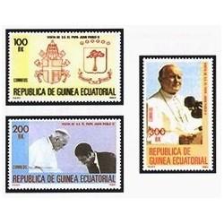 1982 Guinea Ecuat. Viaje S.S. Juan Pablo II (Edif.32/34) **