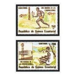 1983 Guinea Ecuat. Año Mundial de las Comunicaciones (Edif.45/46) **