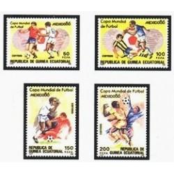 1986 Guinea Ecuat. Copa Mundial de Fútbol México'86 (Edif.81/84) **