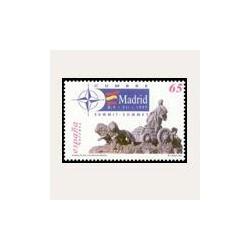 1997 Sellos de España MP-56. Consejo del Atlántico Norte. Minipliego.