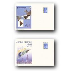 1996 España. Sobres ESPAMER - Aviación y Espacio (Edif. 33/34)**