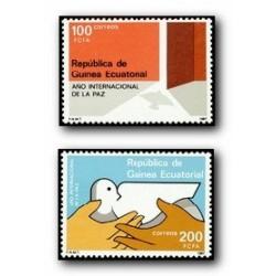 1987 Guinea Ecuat. Año Internacional de la Paz (Edif.92/93) **