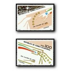 1987 Guinea Ecuat. Día Mundial del Sello (Edif.94/95) **