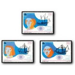 1991 Guinea Ecuat. V Cent. del Descubrimiento de América (Edif.143/45)**