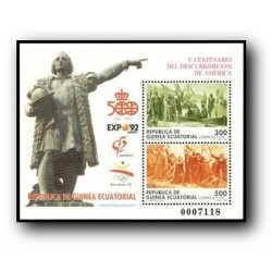 1992 Sellos de Guinea Ecuat. (152) V Cent. del Descubrimiento de América