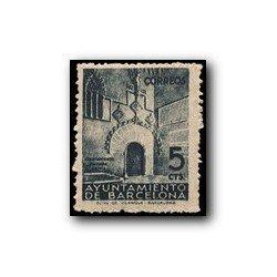 Barcelona 1938. Puerta Gótica del Ayuntamiento. Edif.20 Ø usado