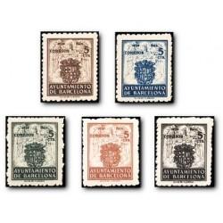 Barcelona 1944. Escudos Nacional y de la Ciudad. Edif. 55/59 **