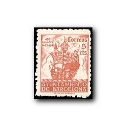 Barcelona 1943. 450 Aniv. de la Llegada de Colón a Barcelona. Edif.49 **