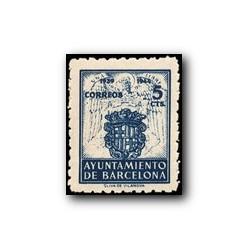 Barcelona 1944. Escudos Nacional y de la Ciudad. Edif. 56 **