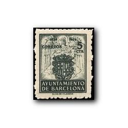 Barcelona 1944. Escudos Nacional y de la Ciudad. Edif. 57 **