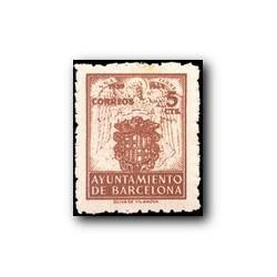 Barcelona 1944. Escudos Nacional y de la Ciudad. Edif. 58 **