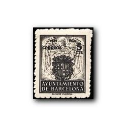 Barcelona 1944. Escudos Nacional y de la Ciudad. Edif. 59 **