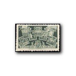 Barcelona 1945. Sellos Emitidos por el Ayto Barcelona. Edif. 71 **