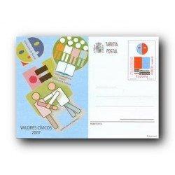 2007 España. Tarjetas Entero Postales - Valores Cívicos **