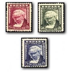 1946 Sellos de España (1005/07). II Cent. del Nacimiento de Goya.