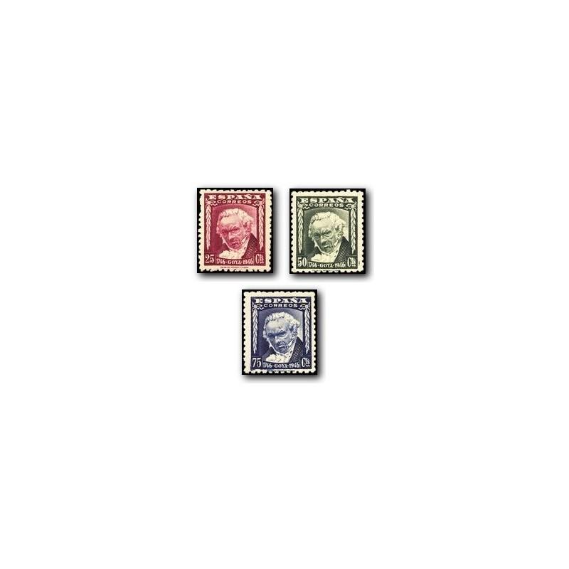 1946 España. II Cent. del Nacimiento de Goya. (Edif. 1005/7) **